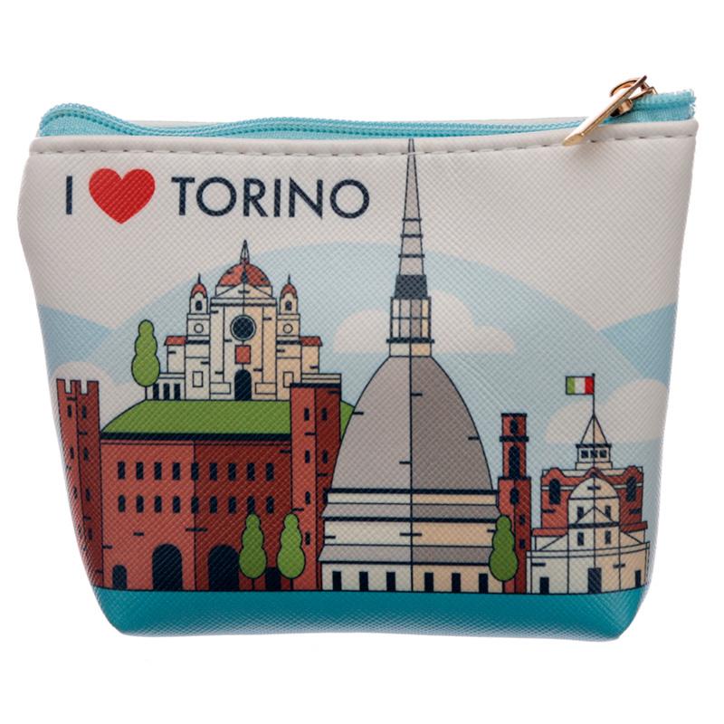 Handy PVC Make Up Bag Purse I Heart Torino