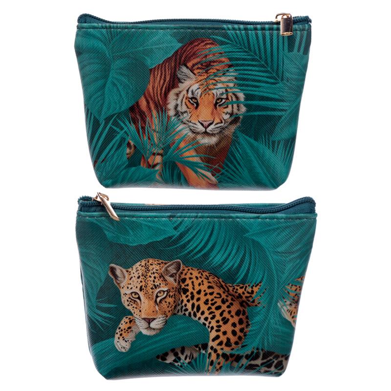 Handy PVC Make Up Bag Purse Big Cat Spots and Stripes