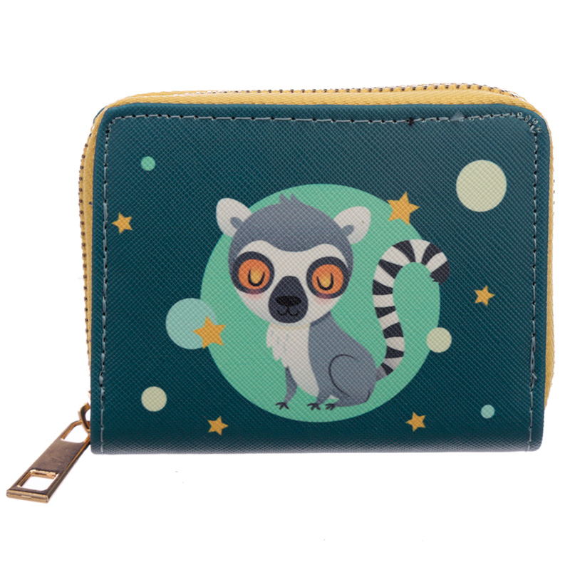 Small Zip Around Wallet Lemur Mob