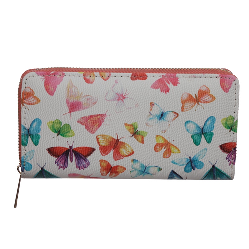 Small Zip Around Wallet Butterfly House
