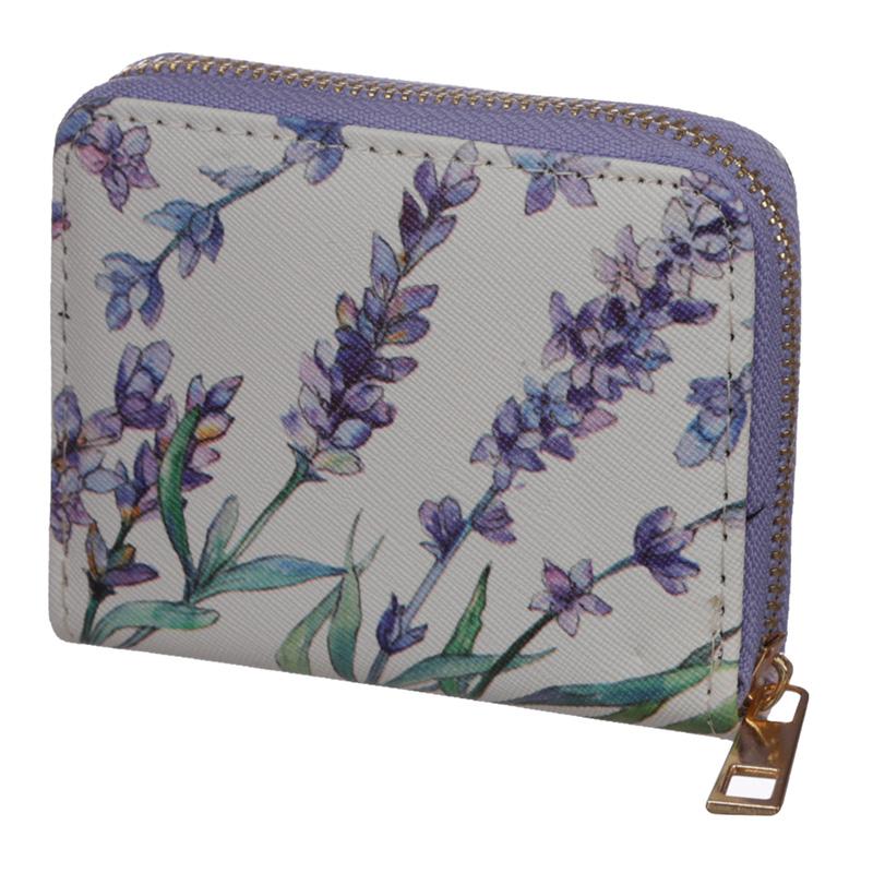 Small Zip Around Wallet Lavender Fields
