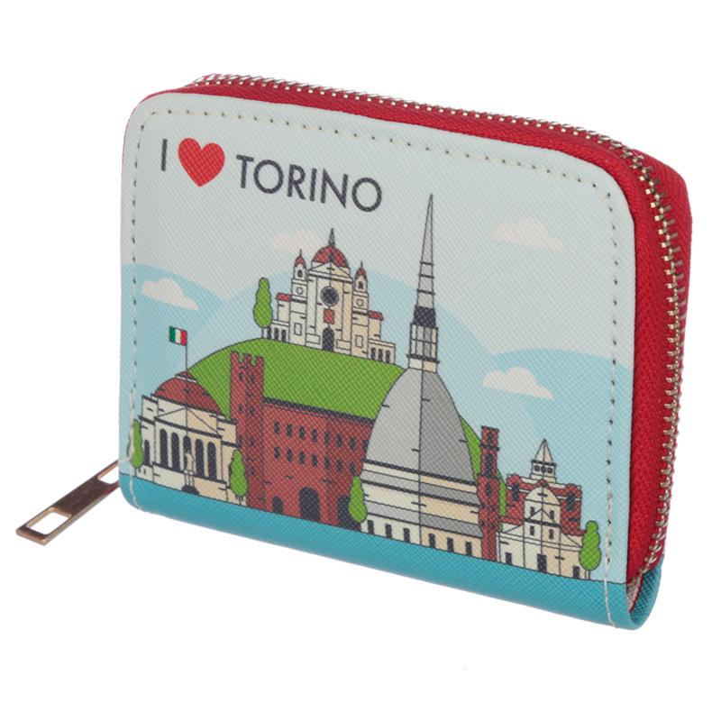 Small Zip Around Wallet I Heart Torino