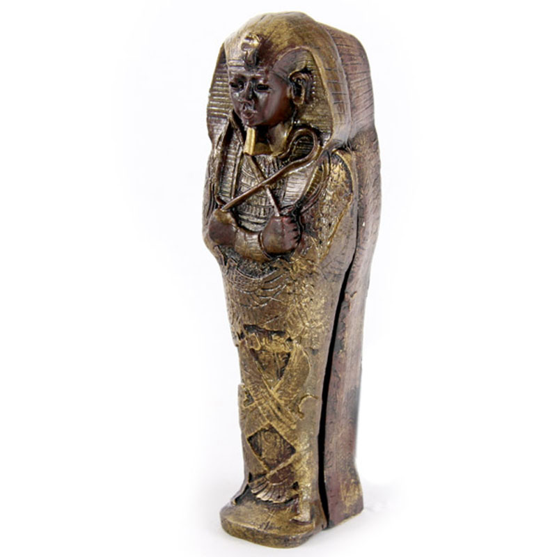 Mini Collectable Egyptian Sarcophagus with Mummy