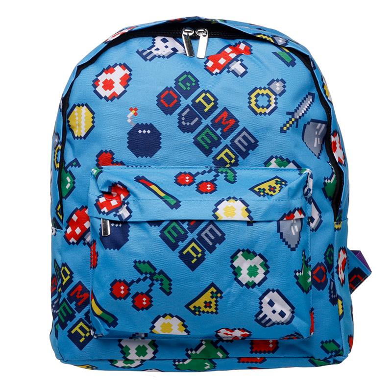 Kids School RucksackBackpack Retro Gaming Design
