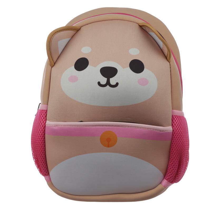 Kids School Neoprene RucksackBackpack Cutiemals Shiba Inu Dog