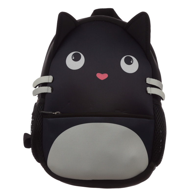 Kids School Neoprene RucksackBackpack Feline Fine Cat