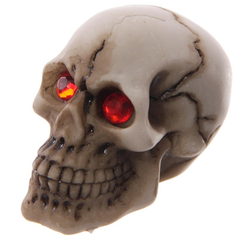 Novelty Red Eyed Skull Decoration