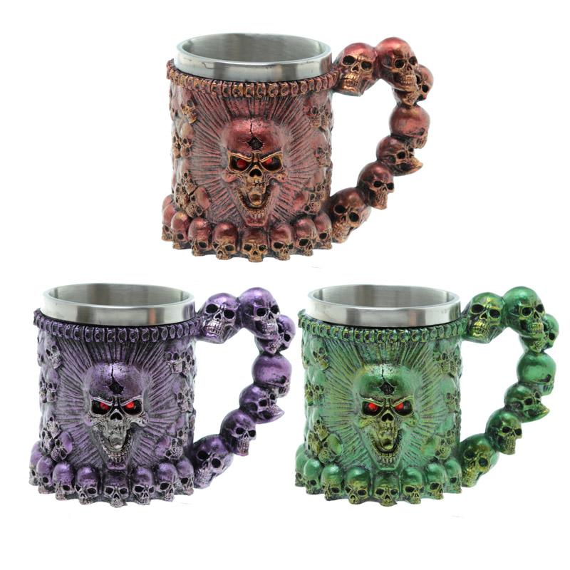 Decorative Screaming Skull Tankard