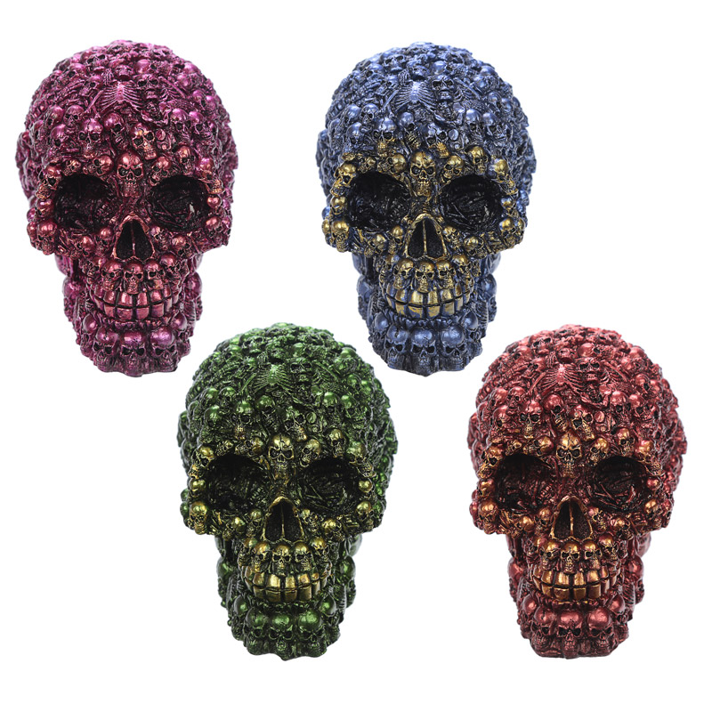 Fantasy Metallic Skull Ornament