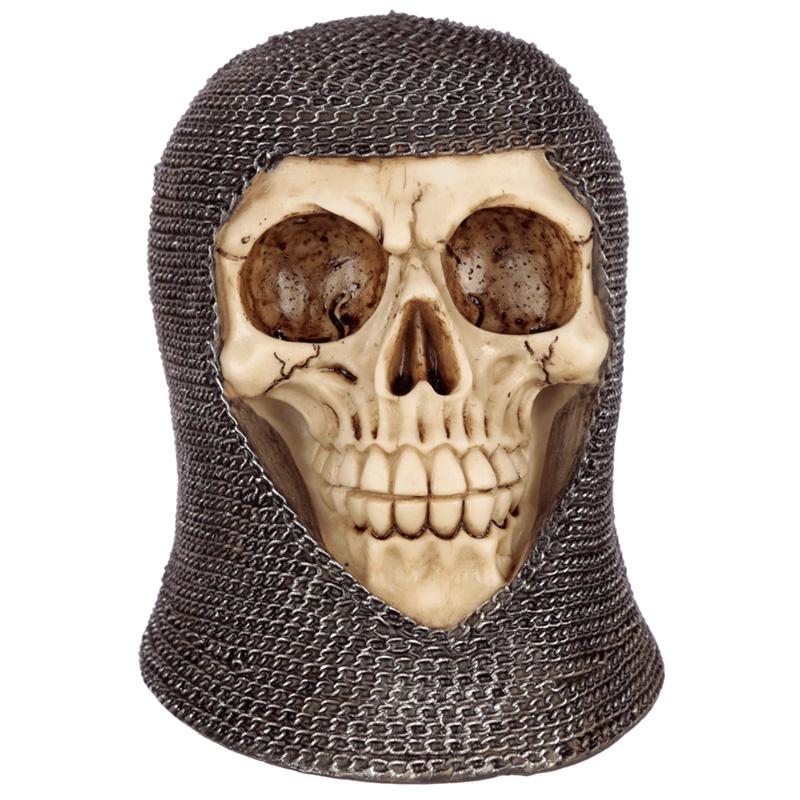 Gothic Chain Mail Skull Ornament