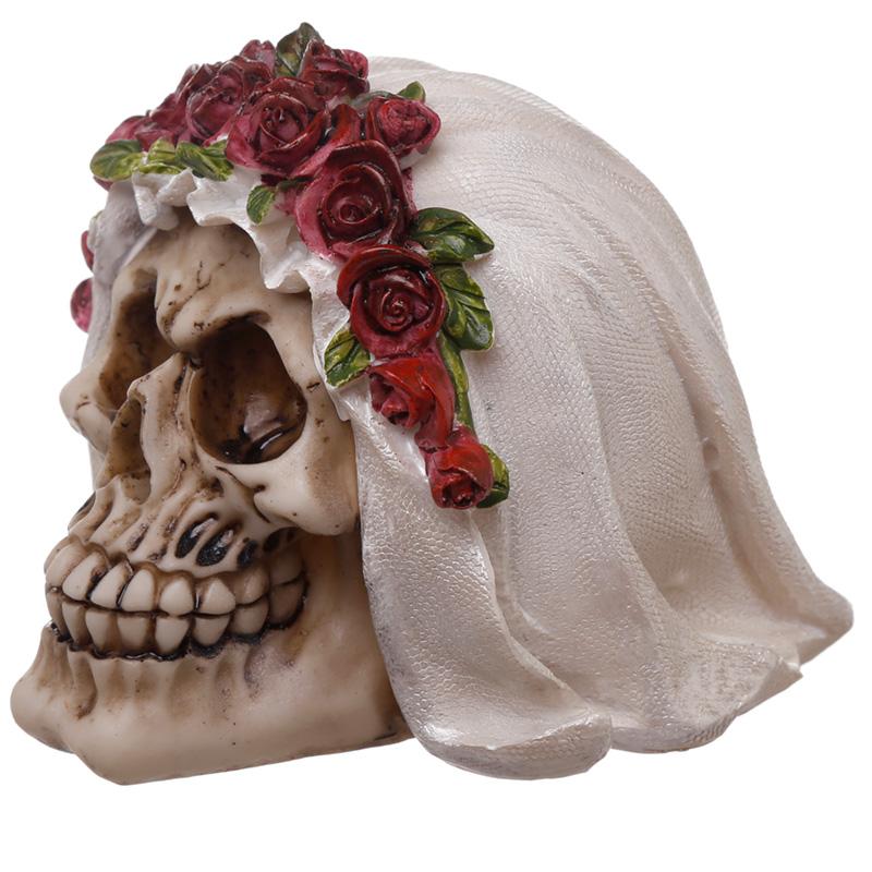 Gothic Wedding Day Skull Bride Ornament