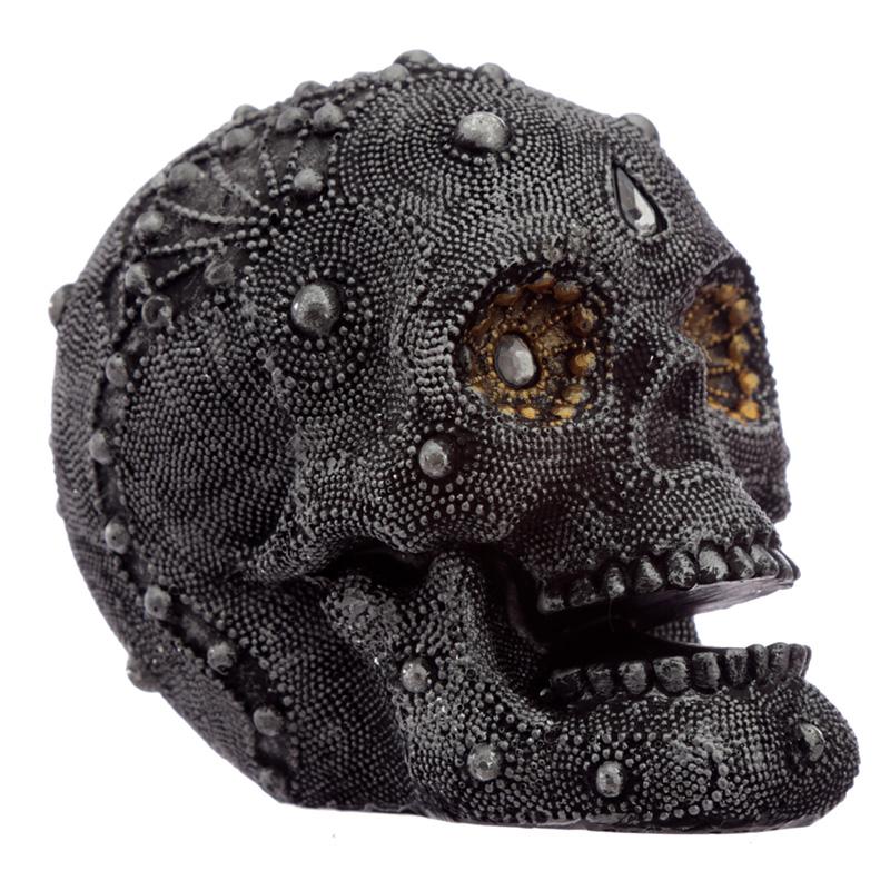 Fantasy Beaded Medium Skull Ornament