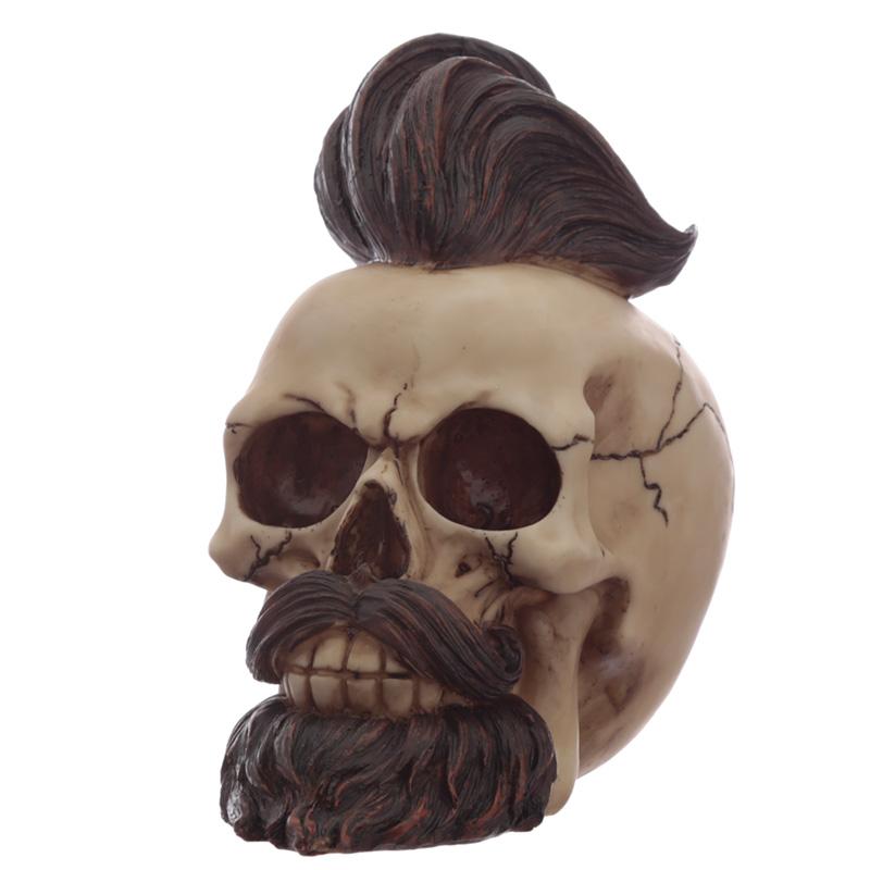 Fantasy Hipster Mohican Skull Ornament