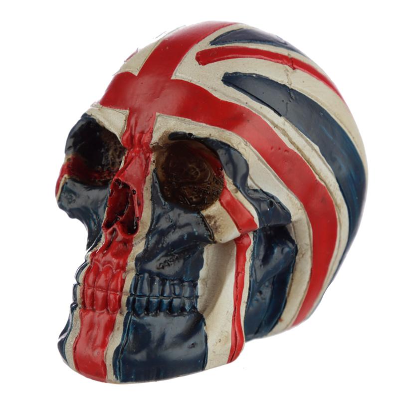 Skull Union Jack Flag Head Ornament