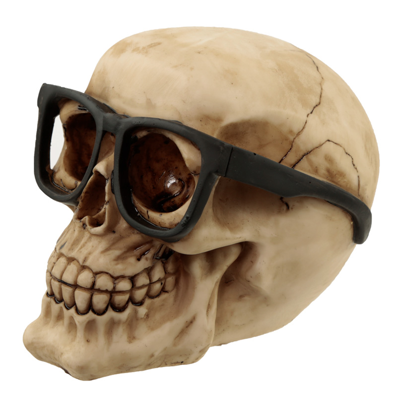 Fantasy Skull Wearing Glasses Ornament
