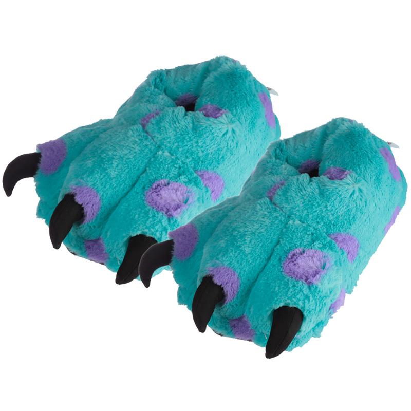 Plush Monster Feet Pair of Unisex Slippers