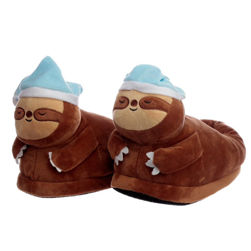 Sloth Unisex One Size Pair of Plush Slippers