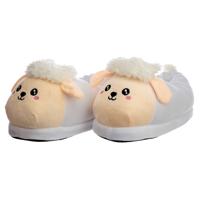 Cute Sheep Unisex One Size Pair of Plush Slippers