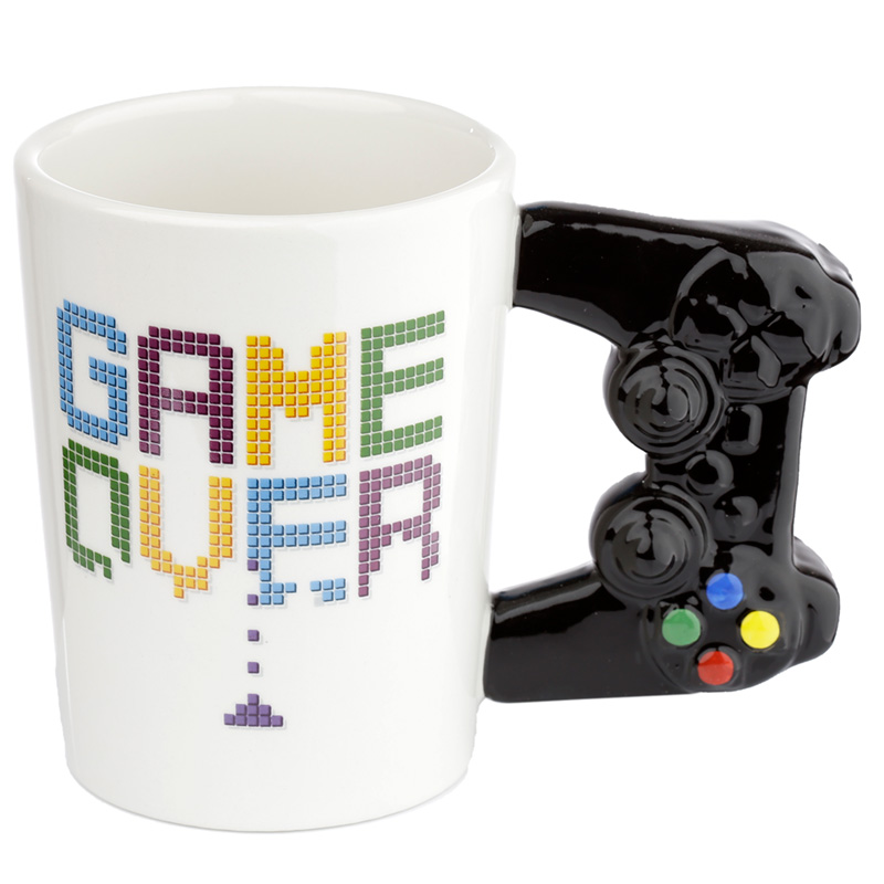 Fun Game Controller Shaped Handle Ceramic Mug
