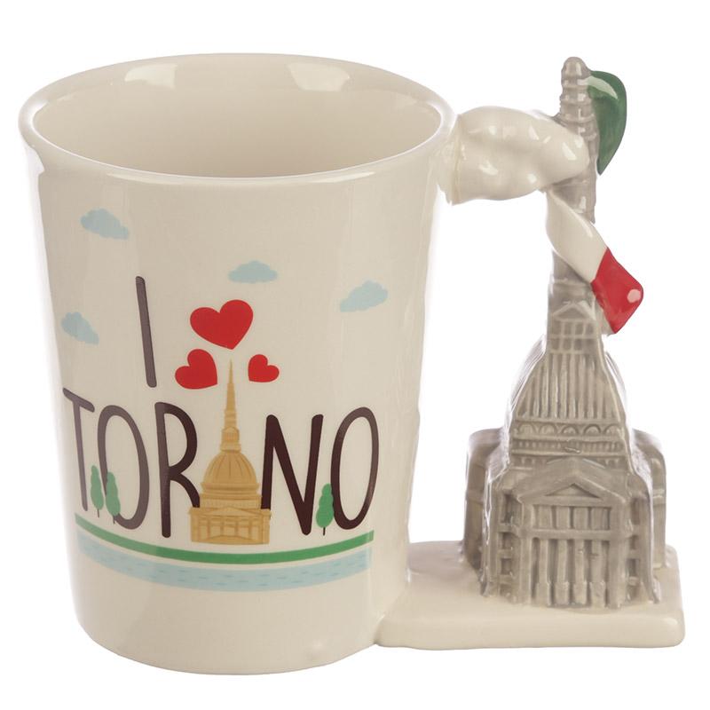 Collectable Torino Shaped Handle Ceramic Mug