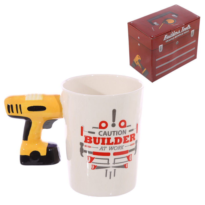 Novelty Shaped Handle Ceramic Tool Mug Electric Drill