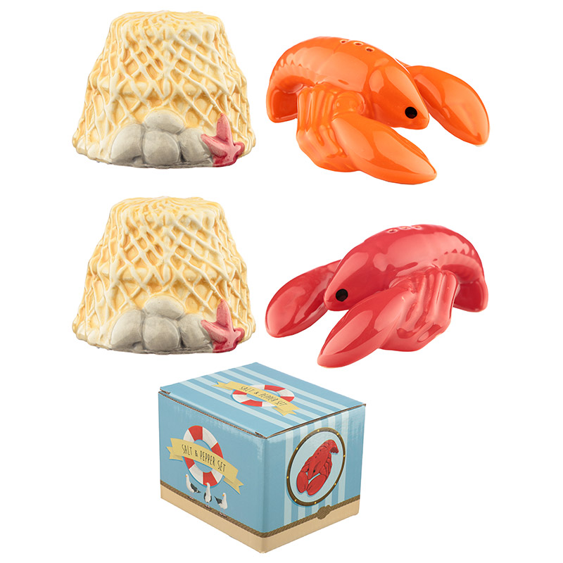 Fun Seaside Lobster Salt and Pepper Set