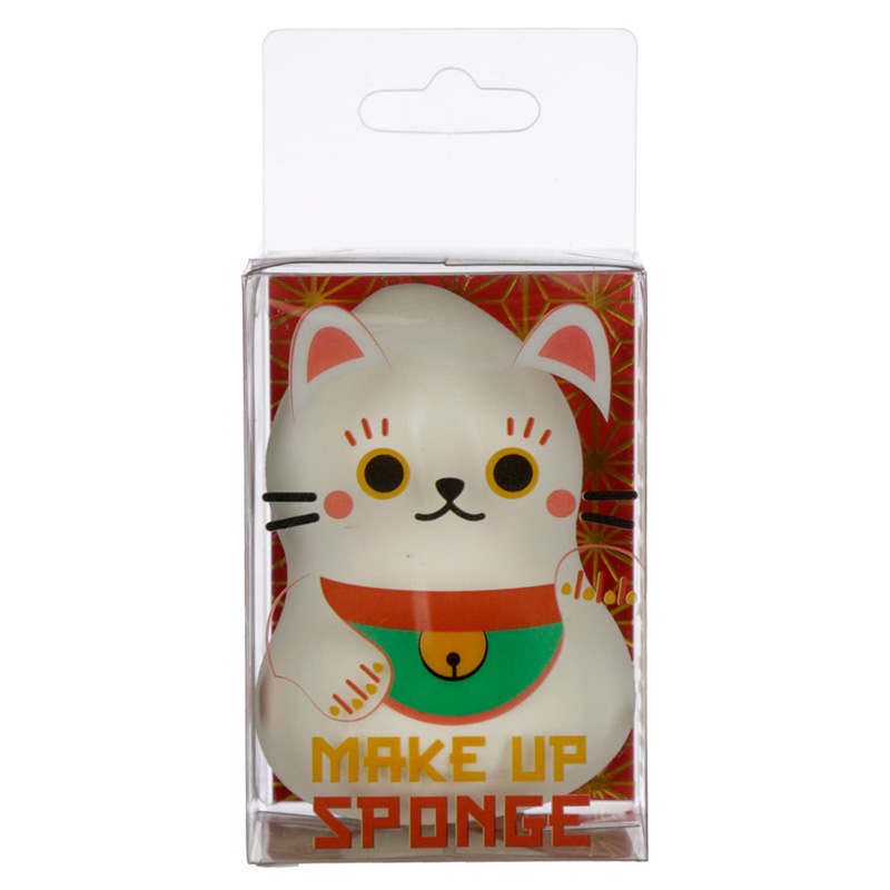 Cutiemals Makeup Applicator Sponge White Lucky Cat Maneki Neko