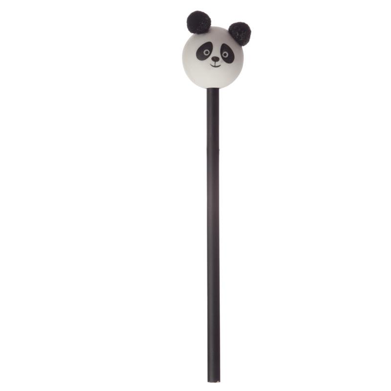 Cute Panda Pom Pom Pencil with Topper
