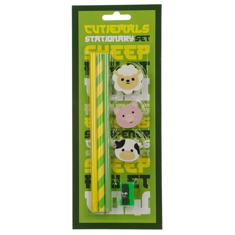 Cutiemals Farm 7 Piece Stationery Set