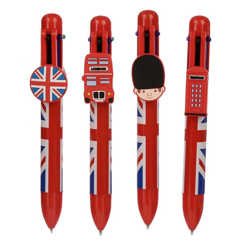 Union Jack Multi Colour Pen 6 Colours