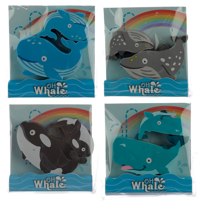 Fun Whale Eraser Set of 2