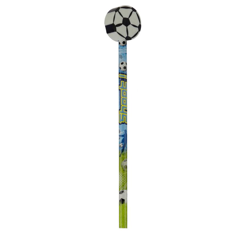 Fun Football Pencil and Eraser Set