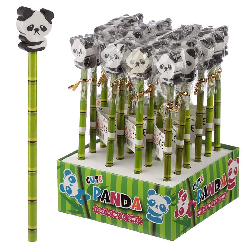 Novelty Kids Panda Design Pencil and Eraser