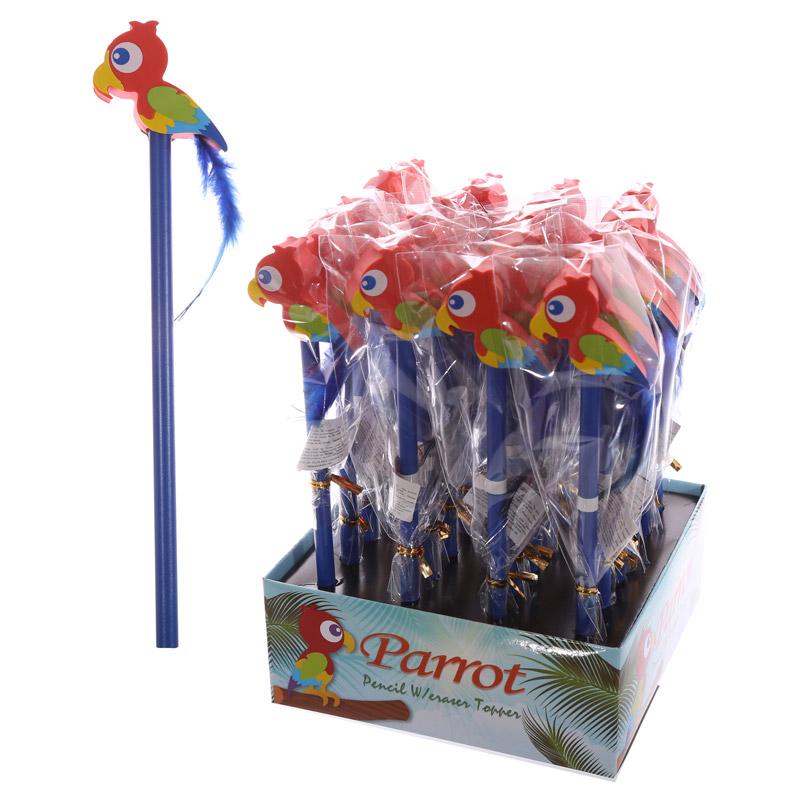 Novelty Kids Parrot Design Pencil and Eraser