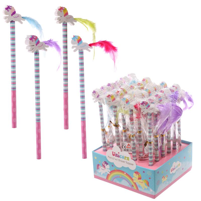 Cute Unicorn Design Pencil and Eraser Set