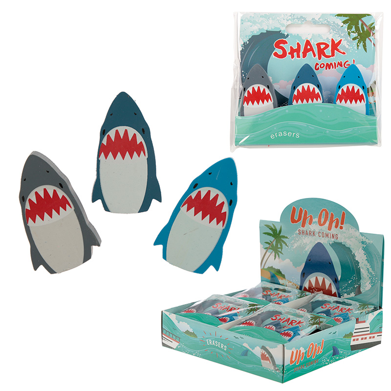 Fun Shark Eraser Set of 3