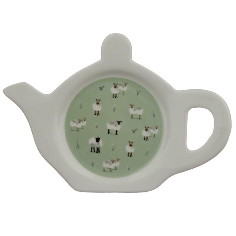 Porcelain Teabag DishHolder Willow Farm Sheep