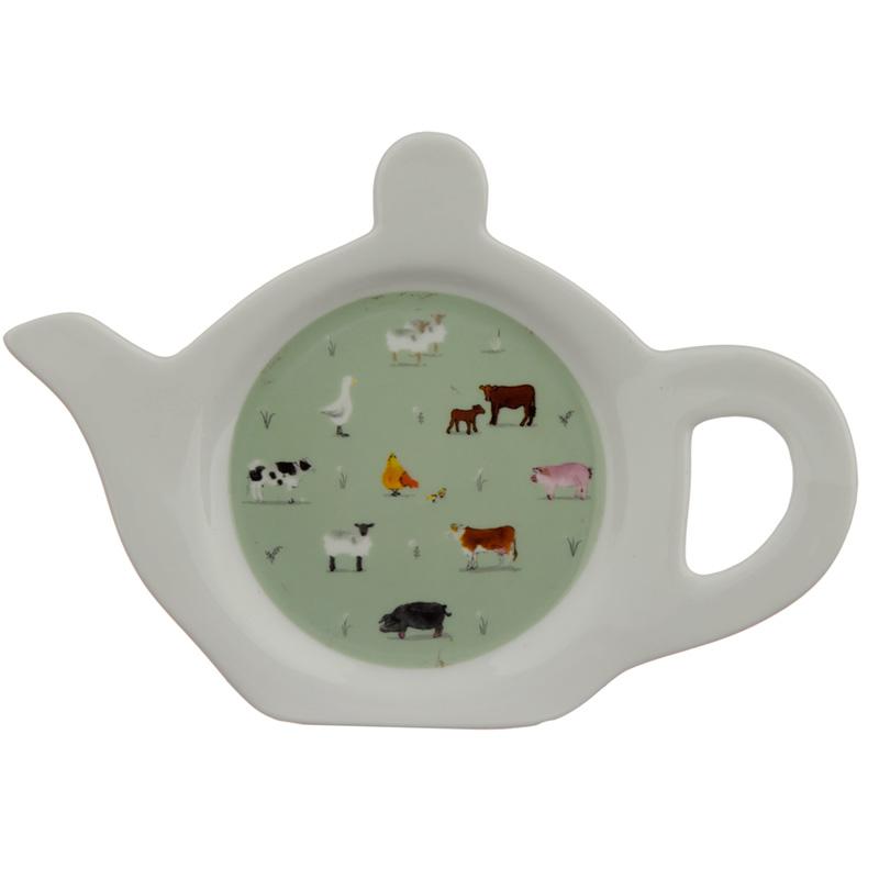 Porcelain Teabag DishHolder Willow Farm