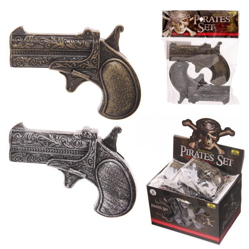 Fun Kids Plastic Novelty Pirate Guns Pack of 2
