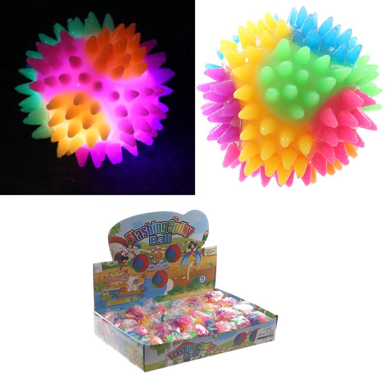 Fun Kids Spiky Bouncy Light Up Ball 5.5cm, Bouncy Balls
