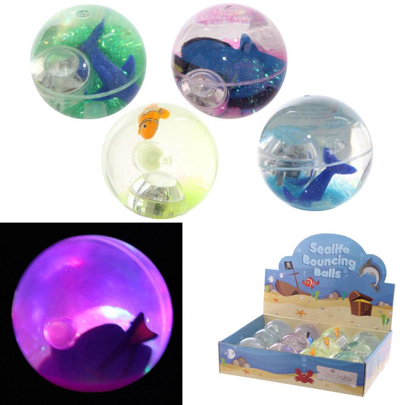Fun Kids Flashing Bouncy Sealife Ball, Bouncy Balls