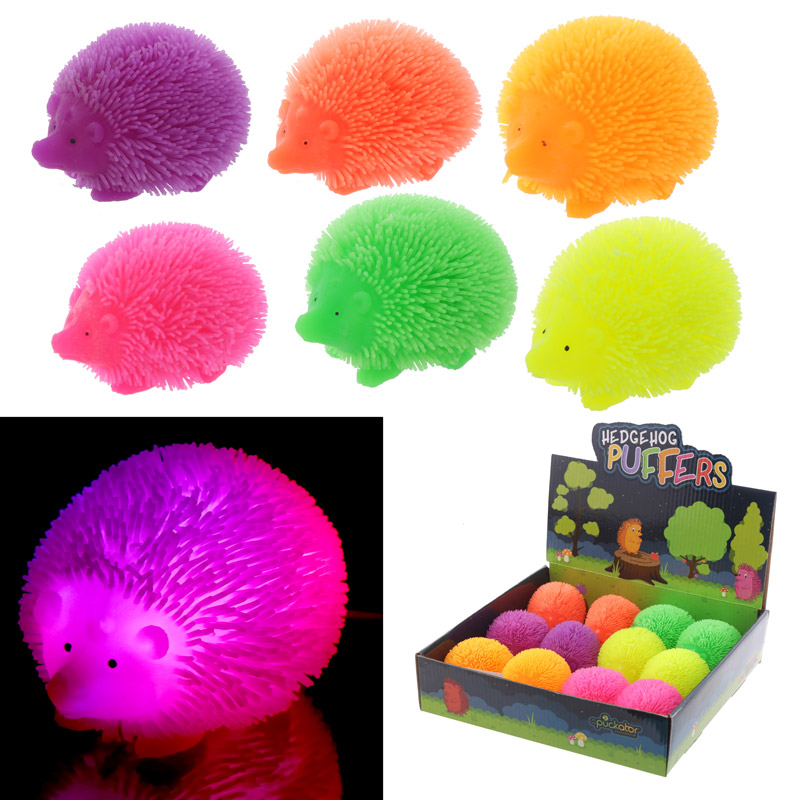 Fun Kids Light Up Squidgy Hedgehog Puff Pet