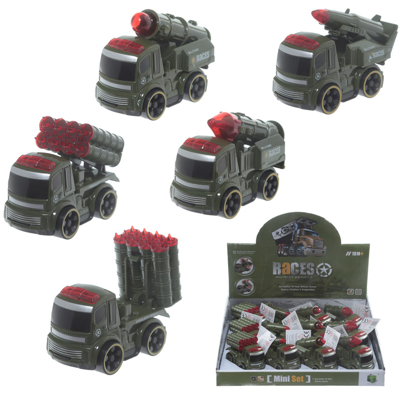 Fun Kids Push Along Novelty Military Vehicles Toy