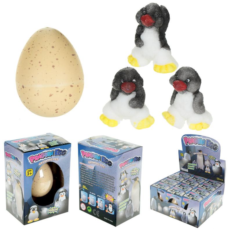 Fun Kids Novelty Hatching Penguin Egg, Educational Toys
