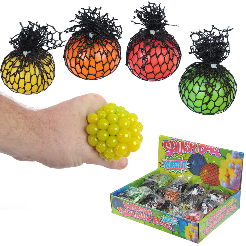 Fun Kids Squeezy Ball in a Net