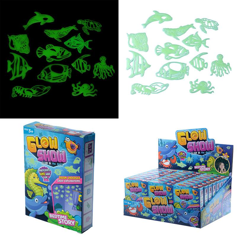 Fun Kids Glow in the Dark Wall Stickers Fish and Sealife