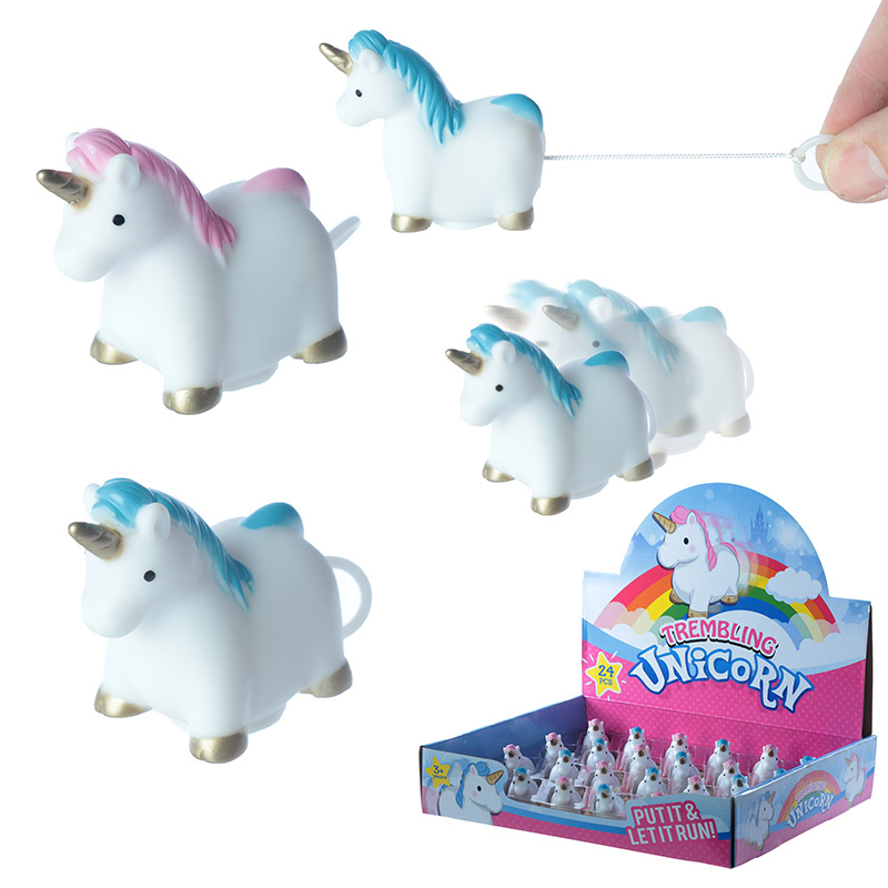 Fun Kids Pull and Shake Rainbow Unicorn