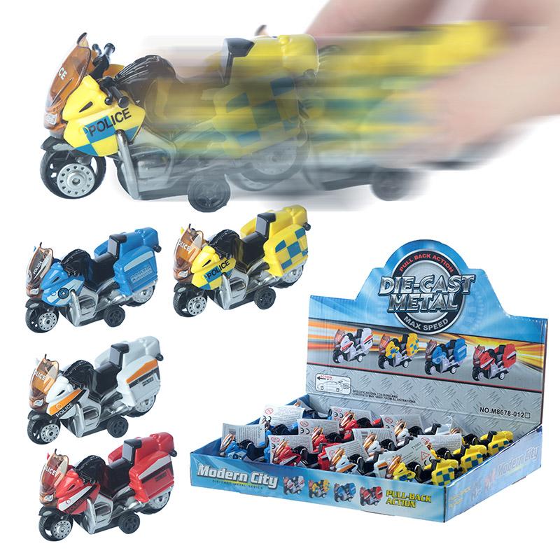Fun Kids Pull Back Diecast Motorbike