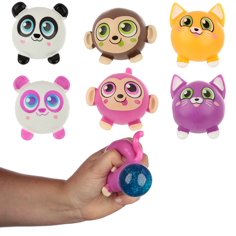 Fun Kids Squeezable Pooping Glitter Animals