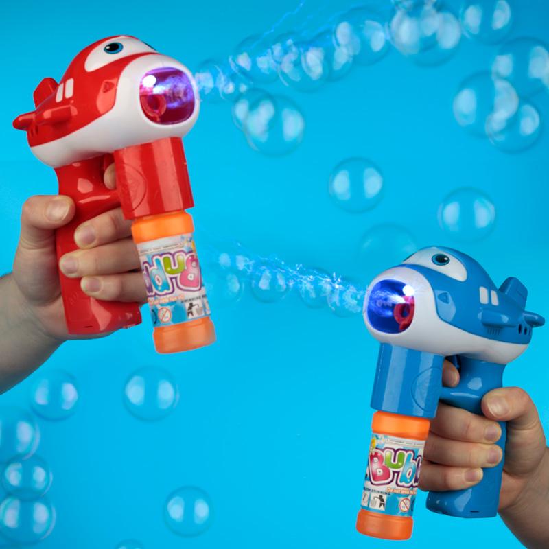 Fun Kids Musical Aircraft Bubble Gun